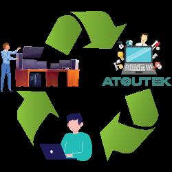 Recyclage et réemploi parc informatique - Atoutek
